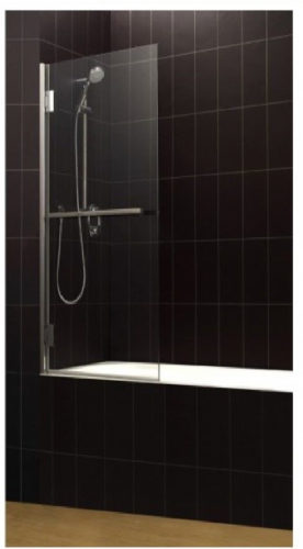 Corniche Bath Screen With Towel Rail